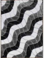 Paklājs SEHER 3D 2616 black grey B 43.56€ Seher 3D kolekcija Dizaina Paklājs SIA