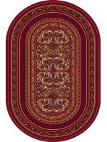 Paklājs STANDARD Aralia dark red oval A 81.68€ Ovālie un apaļie paklāji Dizaina Paklājs SIA