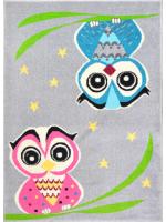 Paklājs FUNKY TOP OWL pelēks 57.65€ Kids kolekcija Dizaina Paklājs SIA