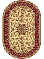 Paklājs STANDARD Samir cream oval A 39.2€ Ovālie un apaļie paklāji Dizaina Paklājs SIA