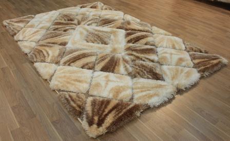 Paklājs Softy 3D 2212 White Brown B 90€ Softy 3D kolekcija  BCC SIA