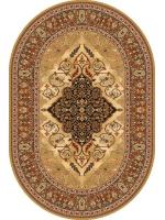 Paklājs ISFAHAN Leyla amber oval A 400€ Ovālie un apaļie paklāji BCC SIA