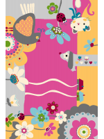 Paklājs FUNKY TOP IMI cyclamen 24.27€ Kids kolekcija Dizaina Paklājs SIA