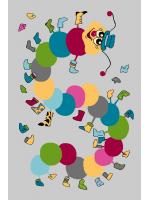 Paklājs FUNKY TOP IWO graphite 57.65€ Kids kolekcija Dizaina Paklājs SIA