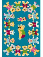 Paklājs FUNKY TOP ROB emerald 57.65€ Kids kolekcija Dizaina Paklājs SIA