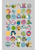 Paklājs FUNKY TOP SUS graphite 57.65€ Kids kolekcija Dizaina Paklājs SIA