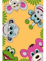 Paklājs FUNKY TOP TIG honey 57.65€ Kids kolekcija Dizaina Paklājs SIA