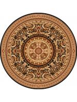 Paklājs AGNUS Egon black circle A 597.87€ Ovālie un apaļie paklāji Dizaina Paklājs SIA