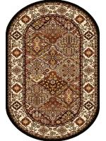 Paklājs STANDARD Bergenia brick red oval A 39.2€ Ovālie un apaļie paklāji Dizaina Paklājs SIA