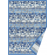 Paklājs LUKE blue chenille 49€ Abpusējie austie paklāji BCC SIA